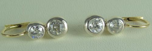 Kolczyki wykonane ze złota i srebra