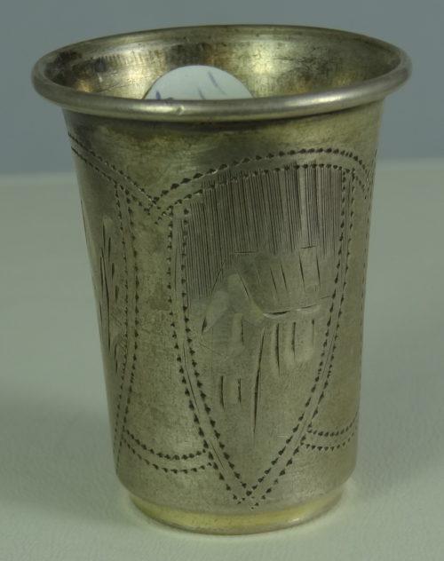 Kieliszek wykonany ze srebra