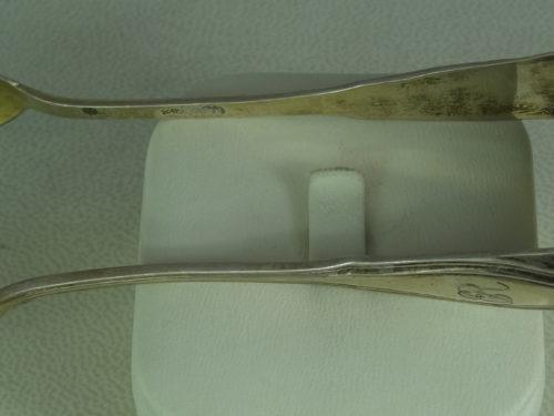 Szczypce do cukru wykonane ze srebra