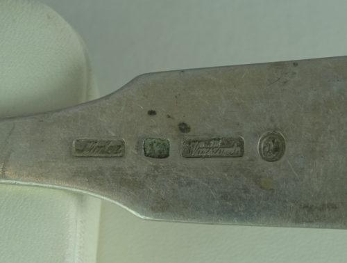 Widelec wykonany ze srebra
