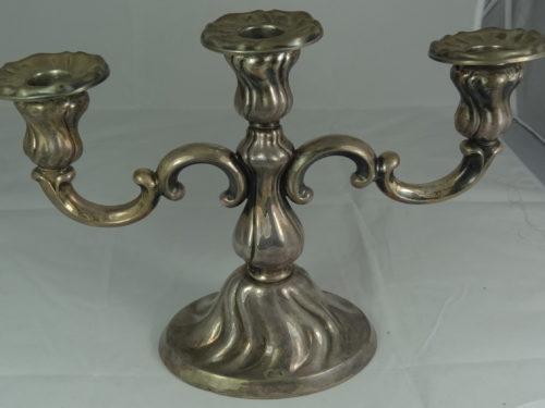 Świecznik 3 ramienny wykonany ze srebra