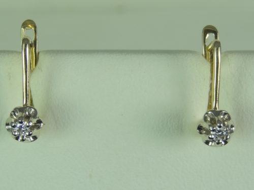 Komplet biżuterii (wisiorek i kolczyki) wykonany ze złota